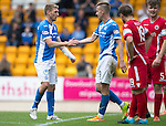 St Johnstone v Stirling Albion…30.07.16  McDiarmid Park. Betfred Cup<br />David Wotherspoon celebrates his goal with Steven MacLean<br />Picture by Graeme Hart.<br />Copyright Perthshire Picture Agency<br />Tel: 01738 623350  Mobile: 07990 594431