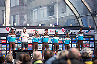 Team AG2R La Mondiale pre race team presentation<br /> <br /> <br /> 82nd Gent – Wevelgem in Flanders Fields 2019 (1.UWT)<br /> Deinze – Wevelgem: 251,5km<br /> ©kramon
