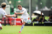 LAKE BUENA VISTA, FL - JULY 23: Robert Beric #27 of the Chicago Fire kicks the ball during a game between Chicago Fire and Vancouver Whitecaps at Wide World of Sports on July 23, 2020 in Lake Buena Vista, Florida.