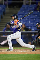 Binghamton Rumble Ponies designated hitter Tomas Nido (7) at bat during a game against the Akron RubberDucks on May 12, 2017 at NYSEG Stadium in Binghamton, New York.  Akron defeated Binghamton 5-1.  (Mike Janes/Four Seam Images)