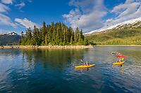 Sea Kayaking in Cedar Bay, Prince William Sound, Alaska