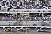 Monster Energy NASCAR Cup Series<br /> The Advance Auto Parts Clash<br /> Daytona International Speedway, Daytona Beach, FL USA<br /> Sunday 11 February 2018<br /> Kyle Busch, Joe Gibbs Racing, M&M's Toyota Camry, Erik Jones, Joe Gibbs Racing, Circle K Toyota Camry and Denny Hamlin, Joe Gibbs Racing, FedEx Express Toyota Camry<br /> World Copyright: Nigel Kinrade<br /> LAT Images