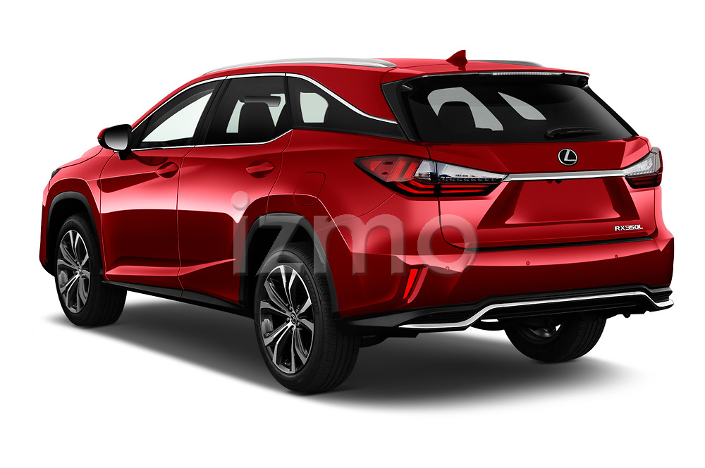 Car pictures of rear three quarter view of 2021 Lexus RX 350L 5 Door SUV Angular Rear