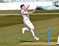 Matt Milnes bowls for Kent during Kent CCC vs Yorkshire CCC, LV Insurance County Championship Group 3 Cricket at The Spitfire Ground on 15th April 2021