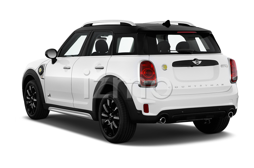 Car pictures of rear three quarter view of a 2018 Mini Countryman S 5 Door Hatchback angular rear