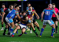 13th February 2021; Twickenham Stoop, London, England; English Premiership Rugby, Harlequins versus Leicester Tigers; Esterhuizen of Harlequins trying to get through gain line
