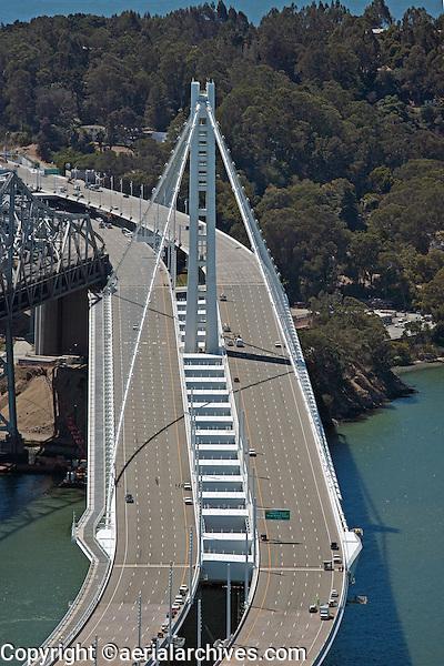 aerial photograph eastern span tower San Francisco Oakland Bay Bridge