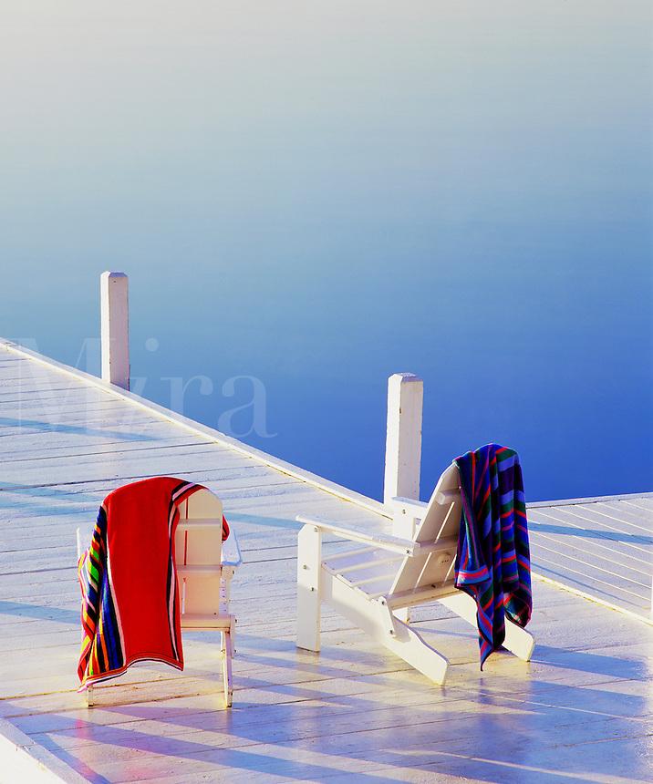 Adirondack chairs and Geneva Lake Lake Geneva Wisconsin