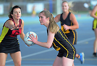 Action from the Wairarapa Netball premier one match between Greytown and Gladstone at Colombo Road Courts in Masterton, New Zealand on Saturday, 22 August 2020. Photo: Dave Lintott / lintottphoto.co.nz