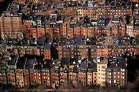 Back Bay row houses Boston Massachusetts