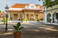 "Yogyakarta, Java, Indonesia. Sultan's Living Quarters, ""the Yellow House."""