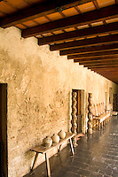 Hallway of old monastry in the World Renowned Casa Santo Domingo Hotel considered best in Central America in the tourism town of Antigua Guatemal