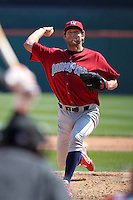 Lehigh Valley IronPigs pitcher Michael Schwimer #44 delivers a pitch during a game against the Buffalo Bisons at Coca-Cola Field on April 19, 2012 in Buffalo, New York.  Lehigh Valley defeated Buffalo 8-4.  (Mike Janes/Four Seam Images)