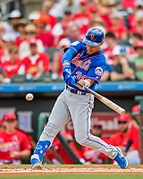 28 February 2019: New York Mets outfielder Michael Conforto at bat during a Spring Training game against the St. Louis Cardinals at Roger Dean Stadium in Jupiter, Florida. The Mets defeated the Cardinals 3-2 in Grapefruit League play. Mandatory Credit: Ed Wolfstein Photo *** RAW (NEF) Image File Available ***