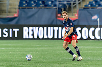 FOXBOROUGH, MA - AUGUST 29: Henry Kessler #4 of New England Revolution looks to pass during a game between New York Red Bulls and New England Revolution at Gillette Stadium on August 29, 2020 in Foxborough, Massachusetts.