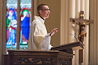 Jan. 18, 2016; Fr. Pete McCormick, C.S.C. gives the homily at the mass to honor the life and legacy of Dr. Martin Luther King in the Sacred Heart of the Basilica. (Photo by Barbara Johnston/University of Notre Dame)