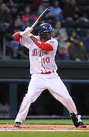 April 13, 2009: Photo of the Greenville Drive on the team's 2009 home opener against the Hickory Crawdads at Flour Field at the West End in Greenville, S.C. Photo by: Tom Priddy/Four Seam Images