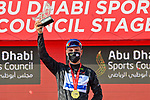Joao Almeida (POR) Deceuninck-Quick Step also takes over the intermediate sprint Black Jersey at the end of Stage 2 of the 2021 UAE Tour running 13km around Al Hudayriyat Island, Abu Dhabi, UAE. 22nd February 2021.  <br /> Picture: LaPresse/Fabio Ferrari | Cyclefile<br /> <br /> All photos usage must carry mandatory copyright credit (© Cyclefile | LaPresse/Fabio Ferrari)