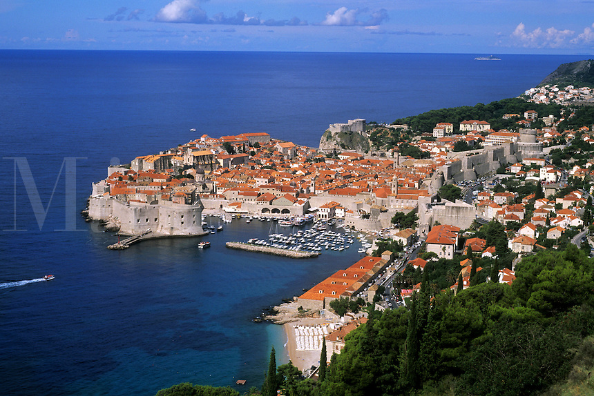 Croatia beautiful coast resort old city of Dubrovnik Croatia