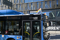 SWEDEN, Stockholm, Bus powered with Biogas fuel / SCHWEDEN, Stockholm, Bus mit Biogas Antrieb