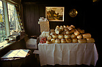 Chulkhurst Charity. Biddenden, Kent 1980s. On Easter Monday a loaf of bread, a pound of tea and a pound of cheese is given to qualifying pensioners and the widows of Biddenden.
