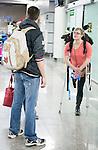 Stephanie Dixon, Sochi 2014.<br /> Team Canada arrives at the airport in Sochi for the Sochi 2014 Paralympic Winter // Équipe Canada arrive à l'aéroport de Sotchi pour Sochi 2014 Jeux paralympiques d'hiver. 03/03/2014.