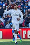 Raphael Varane of Real Madrid celebrates goal during La Liga match between Getafe CF and Real Madrid at Coliseum Alfonso Perez in Getafe, Spain. January 04, 2020. (ALTERPHOTOS/A. Perez Meca)