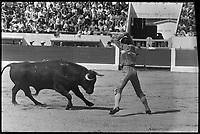 20 Juin 1971. Vue de la corrida de Curro Giron dans les arènes de Toulouse.
