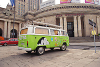 Hippie bus (mini-van) in Warsaw