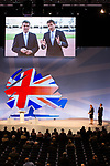 © Joel Goodman - 07973 332324  . 03/10/2011 . Manchester, UK . Olympic presentation video hosted by Sebastian Coe played to the audience during the 2011 Conservative Party Conference at the Manchester Central Convention Centre (formerly GMex) . Photo credit: Joel Goodman