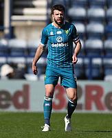 2nd April 2021; Deepdale Stadium, Preston, Lancashire, England; English Football League Championship Football, Preston North End versus Norwich City; Grant Hanley of Norwich City