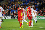 Wales v Serbia FIFA 2014 World Cup Qualifying match - Cardiff - 100913 <br /> Gareth Bale off the bench for Wales in the game against Serbia at the Cardiff City stadium tonight.