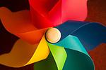 Multicolor PinWheel close-up
