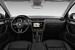 Stock photo of straight dashboard view of 2017 Skoda Octavia Style 5 Door Wagon Dashboard