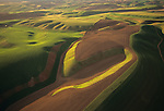 Aerial view of Palouse area in Washington State.