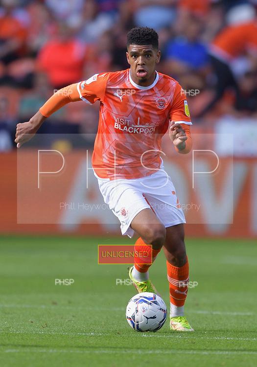 11/09/2021 Sky Bet Championship Blackpool v Fulham<br /> <br /> Tyreece John-Jules, Blackpool FC