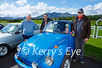 Finan Hickey, Alan Mitchell and and Trevor Mitchell Kilgarvan  at the Killarney Valley Classic and Vintage car show in Killarney Racecourse on Sunday