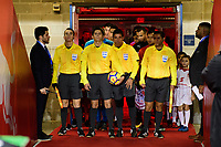 Harrison, NJ - Thursday March 01, 2018: Match officials, Ricardo Montero Araya. The New York Red Bulls defeated C.D. Olimpia 2-0 (3-1 on aggregate) during a 2018 CONCACAF Champions League Round of 16 match at Red Bull Arena.