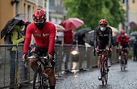 Caleb Ewan (AUS/Lotto-Soudal) at the rained down race start in Biella<br /> <br /> 104th Giro d'Italia 2021 (2.UWT)<br /> Stage 3 from Biella to Canale (190km)<br /> <br /> ©kramon