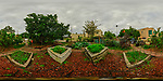 Urban Garden in St. Petersburg (360 degree Panorama View). Composite of 21 images taken with a Fuji X-T3 camera and 8-16 mm lens (ISO 160, 8 mm, f/16, 1/60 sec). Raw images processed with Capture One Pro and AutoPano Giga Pro.