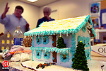 MIDDLEBURY, CT. 01 December 2006--120106SV17--A house sits waiting to be finished as St. George's Church was getting ready Friday for it annual gingerbread village event Saturday in Middlebury.<br /> Steven Valenti Republican-American
