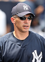 April 3, 2010:  Manager Joe Girardi of the New York Yankees in the annual Futures Game during Spring Training at Legends Field in Tampa, Florida.  Photo By Mike Janes/Four Seam Images