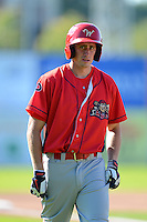 Williamsport Crosscutters outfielder Justin Parr #15 during practice before a game against the Jamestown Jammers on June 20, 2013 at Russell Diethrick Park in Jamestown, New York.  Jamestown defeated Williamsport 12-6.  (Mike Janes/Four Seam Images)