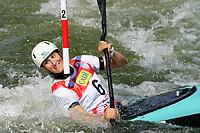 4th September 2021; Parc Olimpic del Segre, La Seu D'Urgellm ICF Slalom World Cup, Women's Kayak Final;  Luuka Jones (NZL)