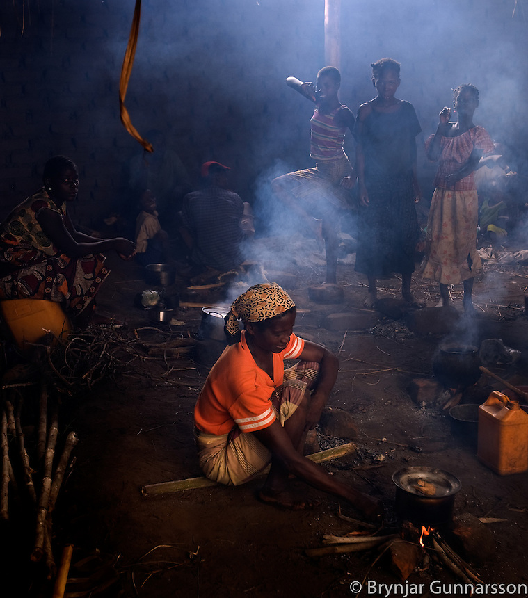 In Matua one of the school buildings is being used for cooking. Shimu is the national dish made out of corn flour. Sometimes eaten with fish or fowl but most can not afford this luxury often. The luxury of fish that will be even scarcer with the distance from the river