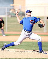 Brian Schlitter, Chicago Cubs 2010 minor league spring training..Photo by:  Bill Mitchell/Four Seam Images.