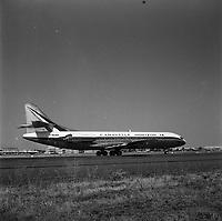 Pistes de Blagnac. 28 août 1962. Première sortie de la Caravelle Horizon (version américaine de l'avion) sur la piste