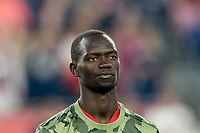 FOXBOROUGH, MA - AUGUST 24: Micheal Azira #16 of Chicago Fire during a game between Chicago Fire and New England Revolution at Gillette Stadium on August 24, 2019 in Foxborough, Massachusetts.