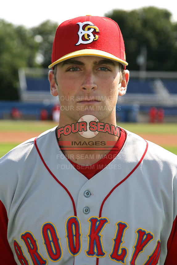 August 6, 2009:  Third Baseman Tyler Vaughn of the Brooklyn Cyclones during a game at Dwyer Stadium in Batavia, NY.  The Cyclones are the Short-Season Class-A affiliate of the New York Mets.  Photo By Mike Janes/Four Seam Images