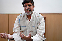 INDIA New Delhi, human rights activist Kailash Satyarthi, NGO BBA / SACCS which fight for child rights and against child labour, awarded 2014 with peace Nobel prize / INDIEN Neu Delhi, Menschenrechtler und Aktivist Kailash Satyarthi von der NGO BBA / SACCS, die fuer Kinderrechte und gegen  Kinderarbeit kaempfen, er wird 2014 mit dem Friedensnobelpreis geehrt